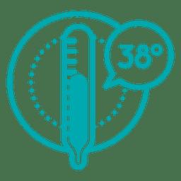 Icono de temperatura celcius