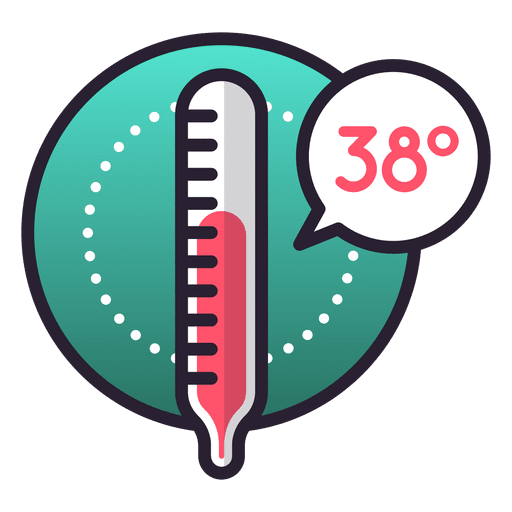 Ícone de temperatura feber