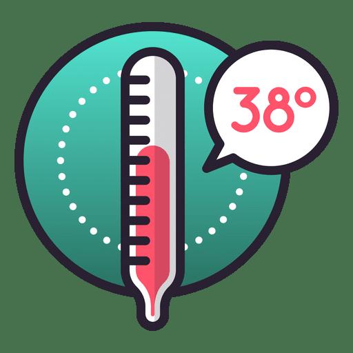 Icono de temperatura feber