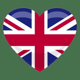 Bandera del corazon del reino unido