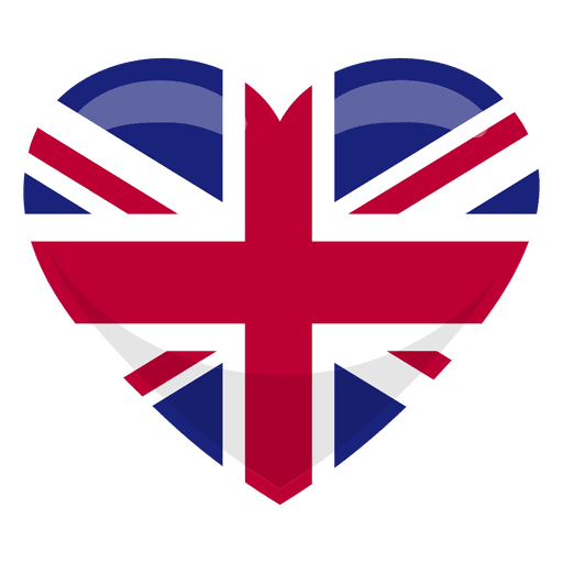Bandera del corazon del reino unido Transparent PNG
