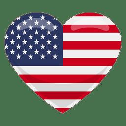 Bandera del corazón de estados unidos