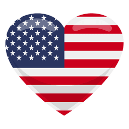 United states heart flag