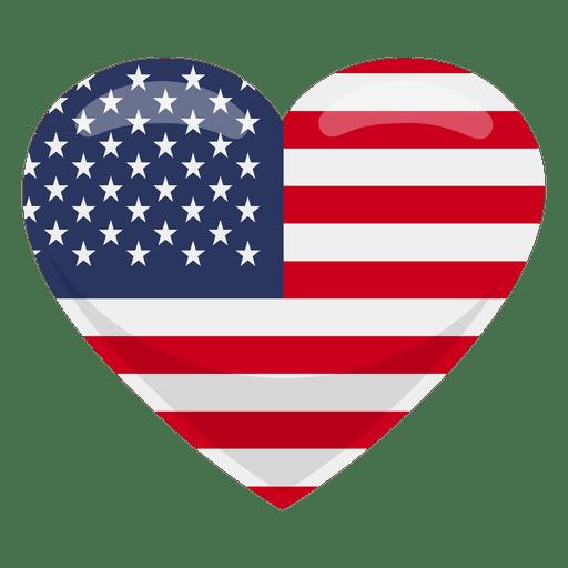 United states heart flag Transparent PNG
