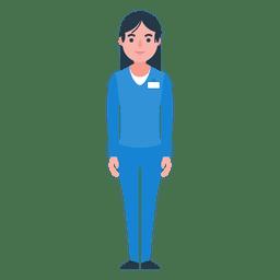 Mujer enfermera personaje