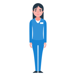Woman nurse character