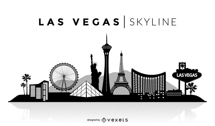 Skyline von Las Vegas Silhouette