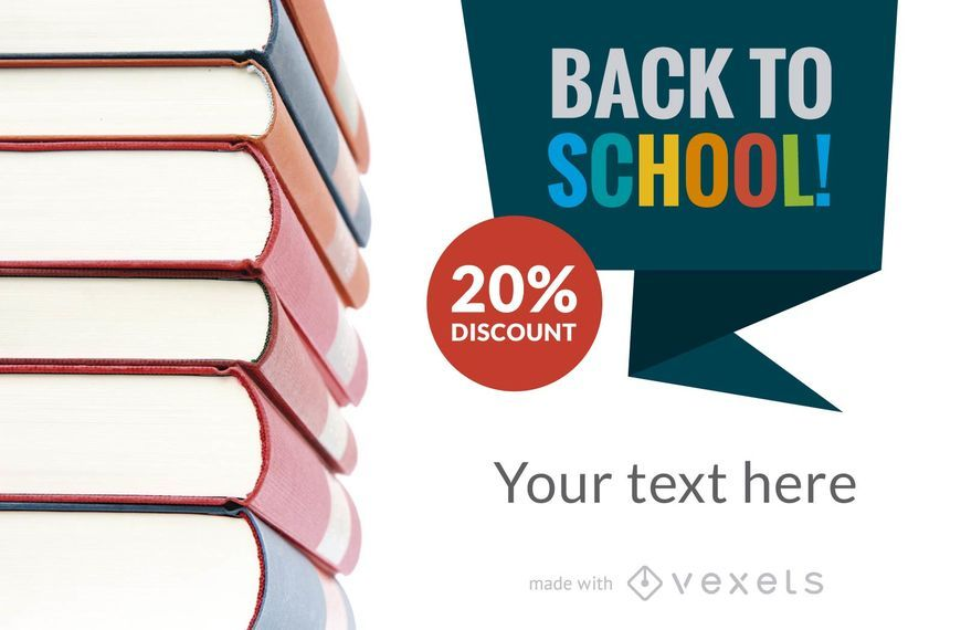Back to School discount banner maker