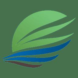 Logotipo de viagem de asa de seta