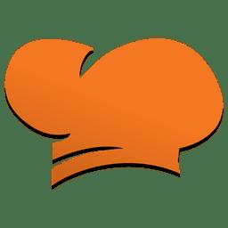 Icono de comida rápida de sombrero de chef