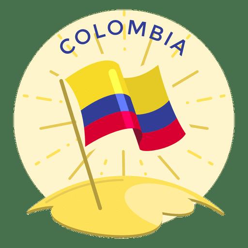 Bandeira da Colômbia Transparent PNG