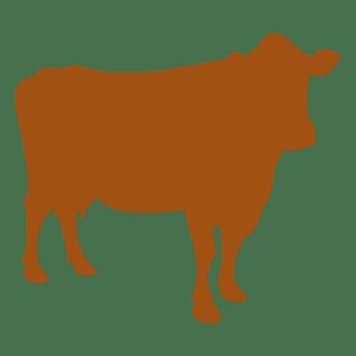Farm animal cow silhouette Transparent PNG