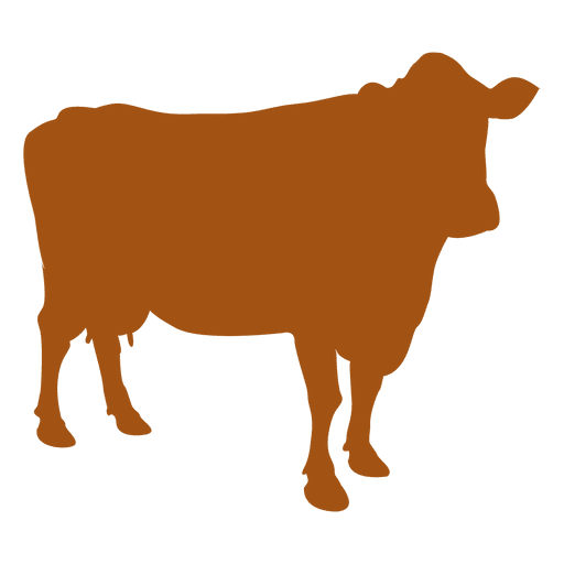 Silueta de vaca de animal de granja Transparent PNG
