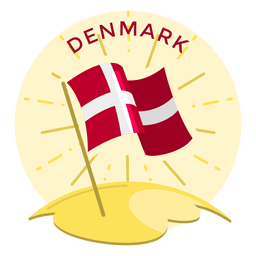 Dinamarca bandera shinning