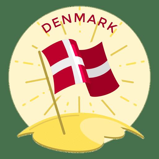 Bandeira de Dinamarca shinning Transparent PNG