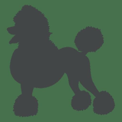 Postura de silueta de perro