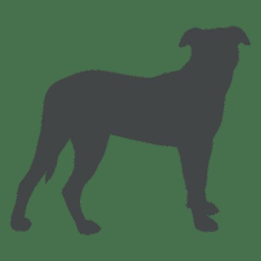 Dog silhouette posture side