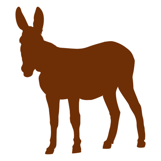Donkey animal silhouette Transparent PNG