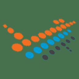 Halbton-Geowissenschaft-Symbol