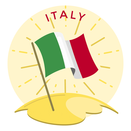 Bandera de italia Transparent PNG