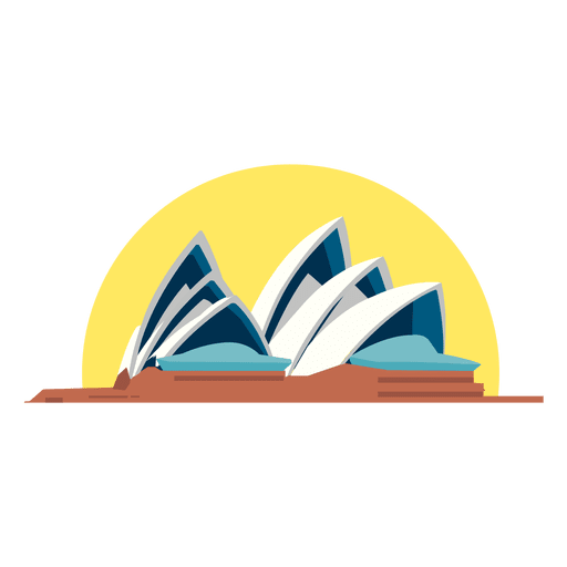 Teatro de opera sydney Transparent PNG