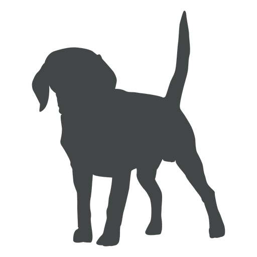 Puppy silhouette posing Transparent PNG