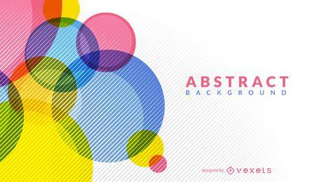 Círculos brilhantes abstraem base