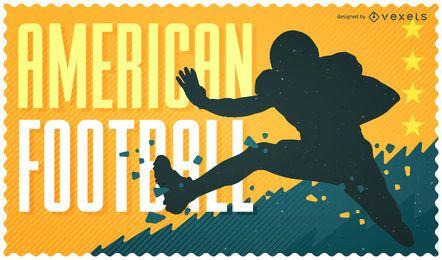 Diseño de ilustración de fútbol americano