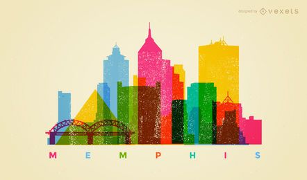 Colorful Memphis skyline