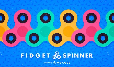 Fidget spinner illustrations background