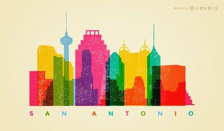 Horizonte colorido de San Antonio