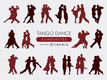 Colección de siluetas de tango.
