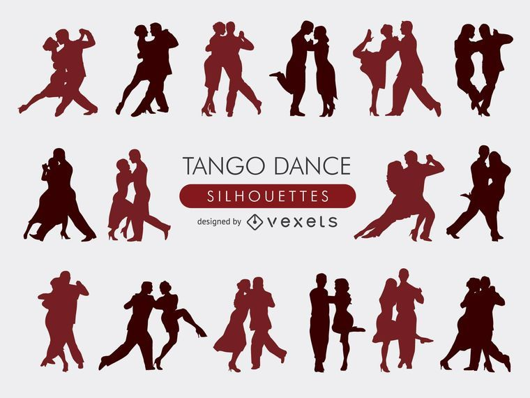 Coleção de silhuetas de tango