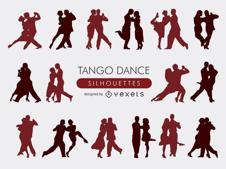 Colección de siluetas de tango