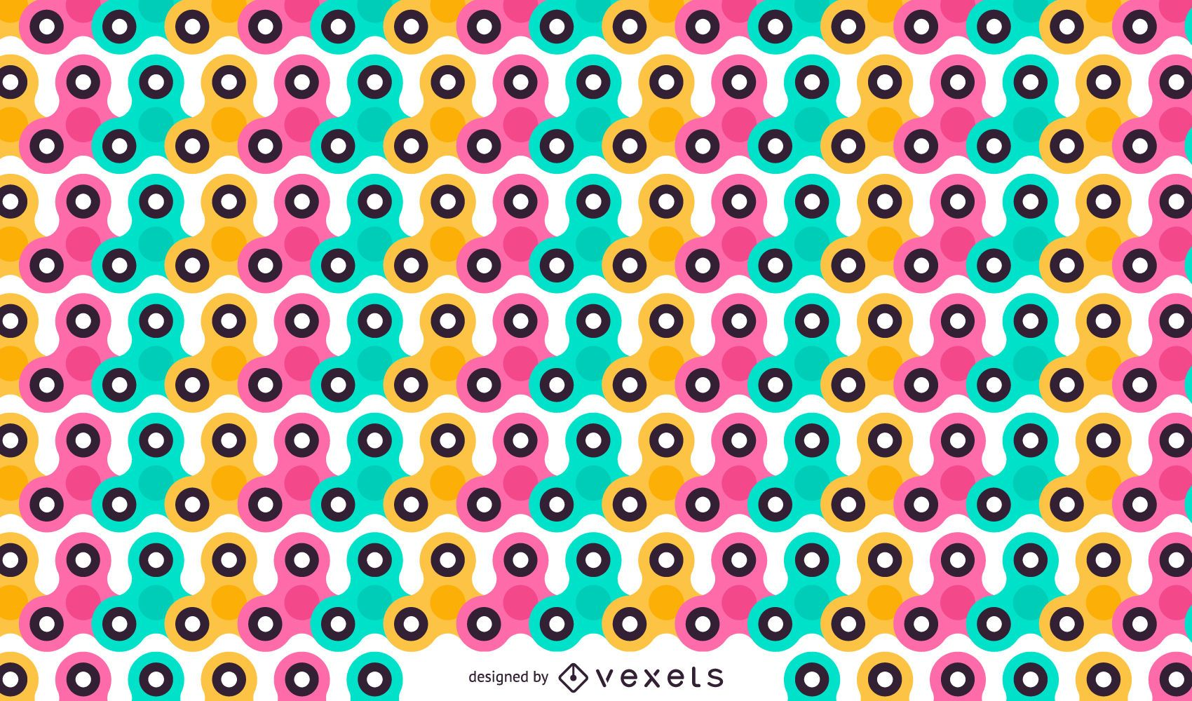 Colorful fidget spinner pattern