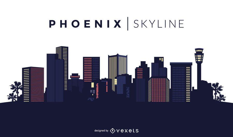 Phoenix skyline design