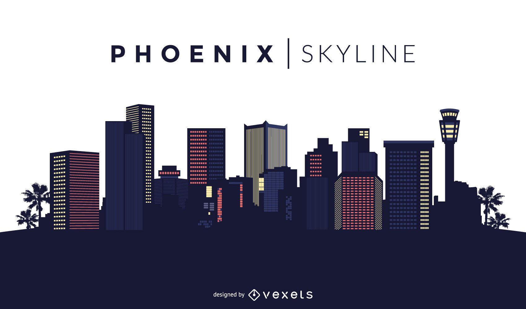 Dise?o del horizonte de Phoenix