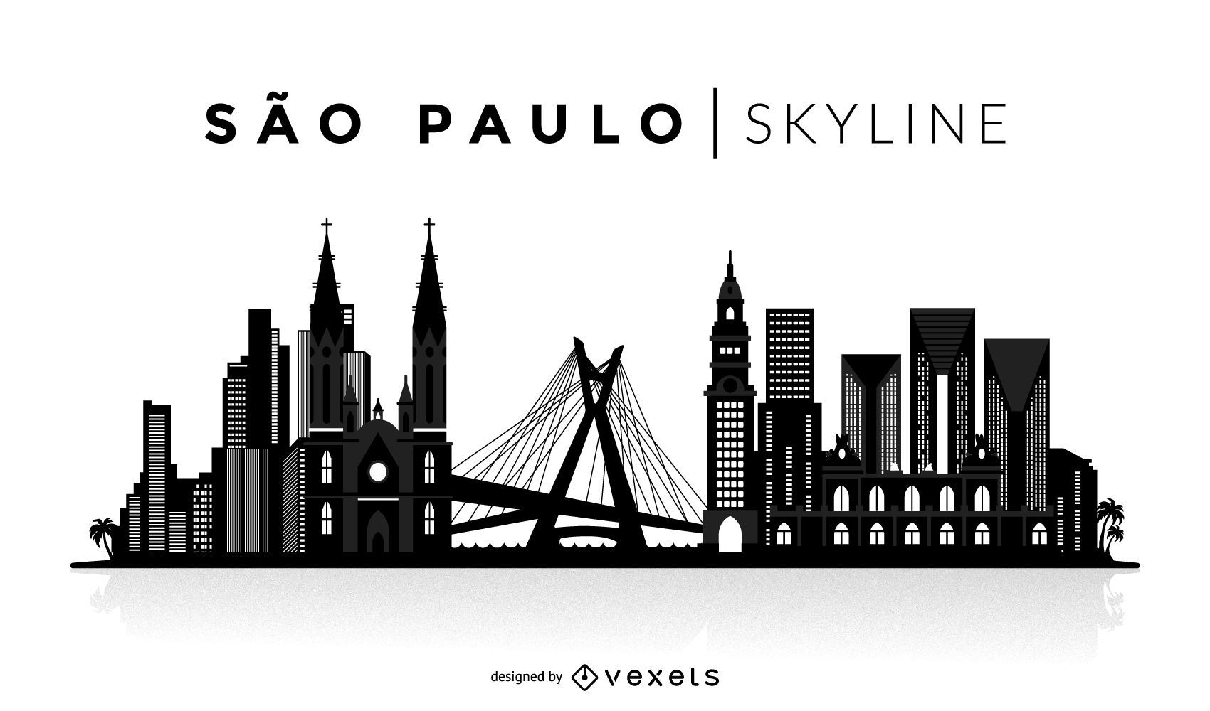 Skyline-Silhouette von Sao Paulo