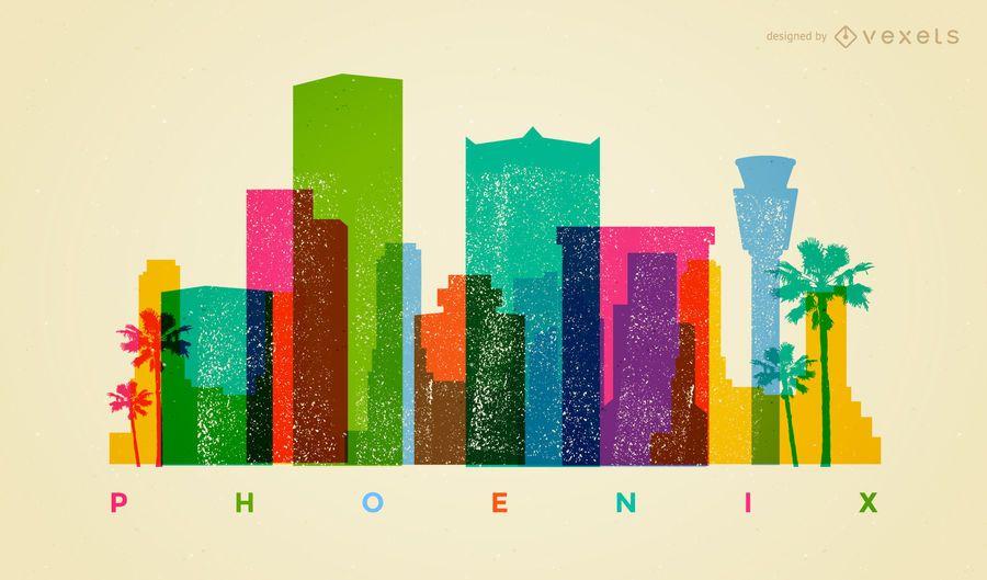 Colorful Phoenix skyline