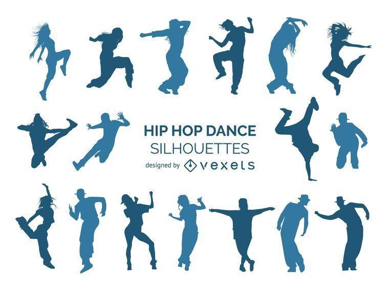 Bailarines de hip hop silueta colección
