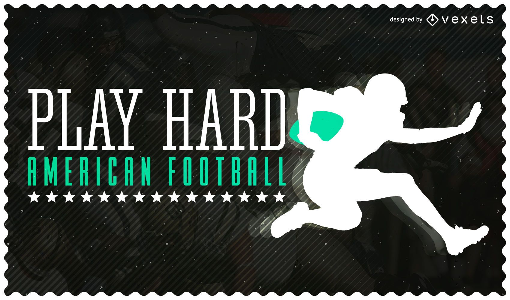 American Football background with silhouettes