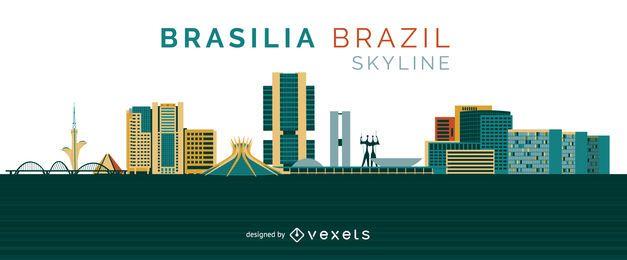 Diseño del horizonte de Brasilia