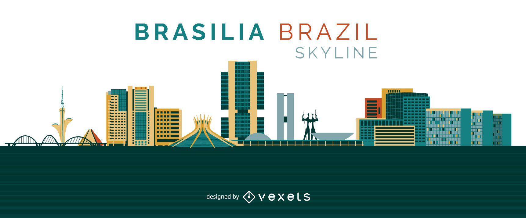 Brasilia skyline design
