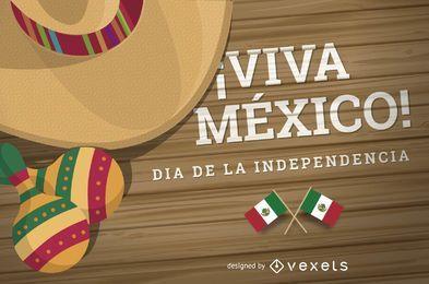 Entwurf der Independencia Mexico Design