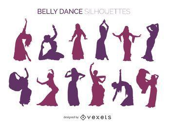 Belly dancer siluetas