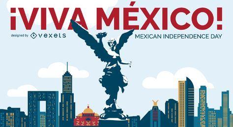 Diseño del Día de la Independencia Viva México