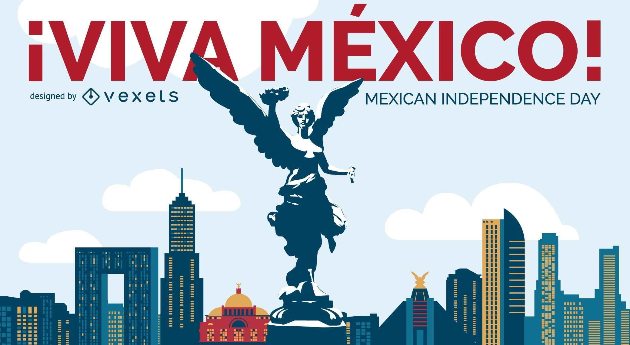 Viva Mexico Independence Day design