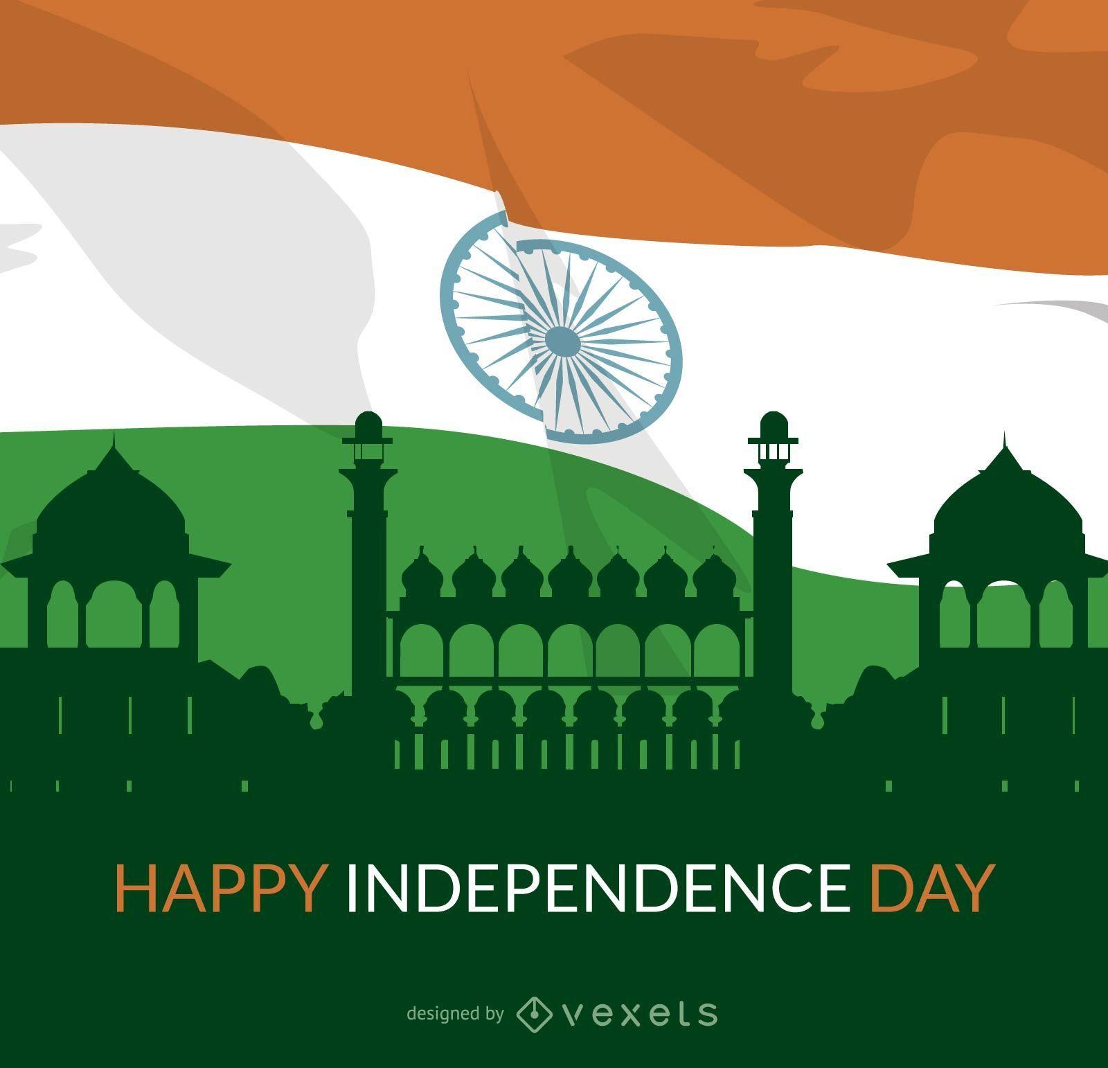 Curvas Independents Day Tricolor Pintura bandera india - Descargar ...
