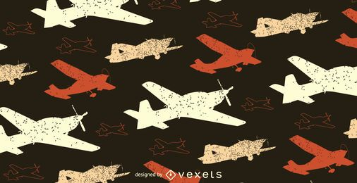 Grunge Flugzeugmuster