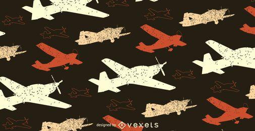 Patrón de avión de grunge